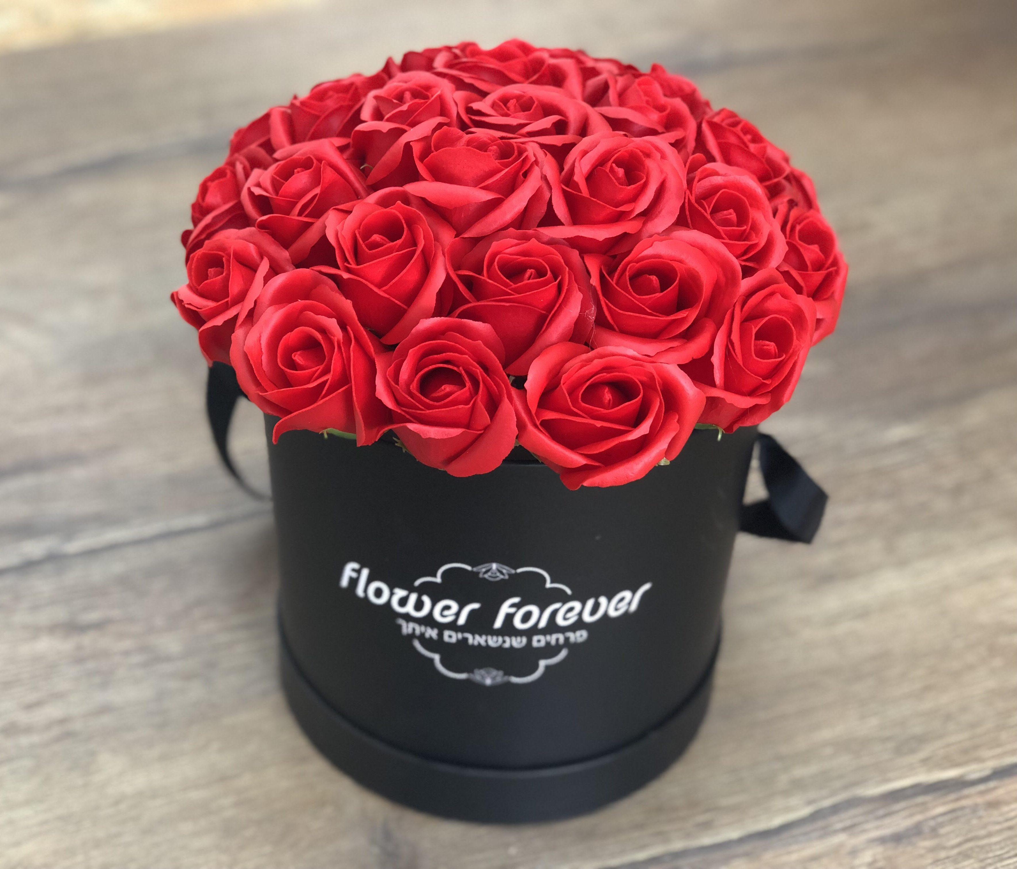 פרחי סבון FLOWER BOX/ אדום