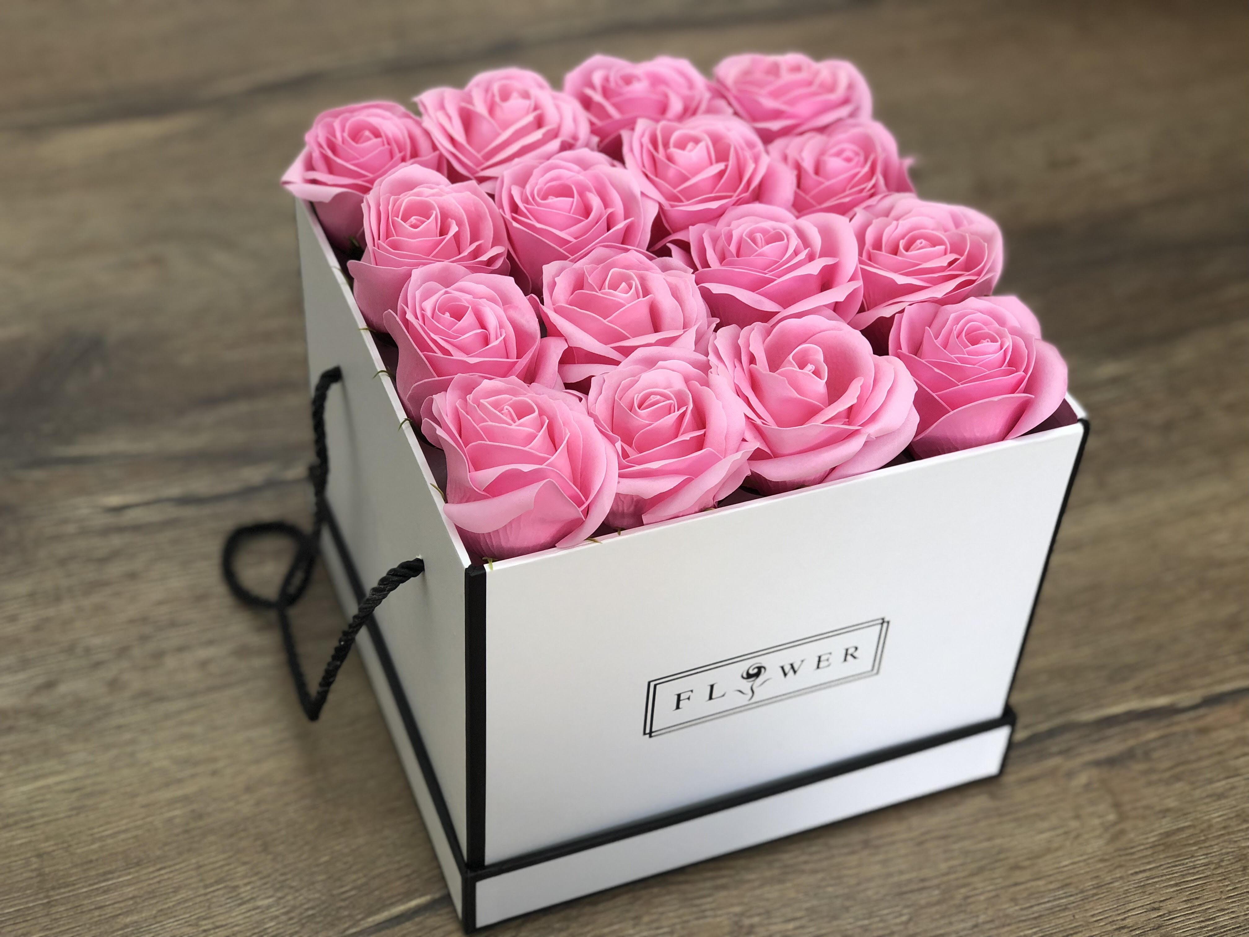פרחי סבון FLOWER BOX/ ורוד